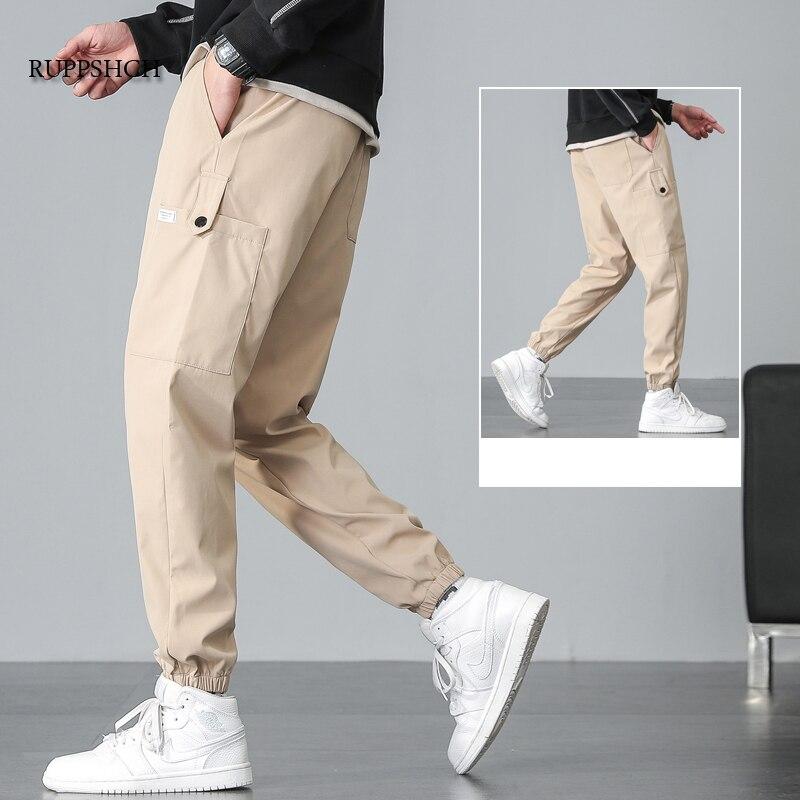 Pantaloni Cargo da uomo Street Style oversize primavera autunno uomo pantaloni Harem pantaloni sportivi multi-tasca moda pantaloni Casual da uomo nuovo