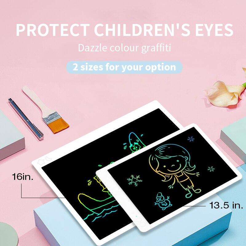 Aibevi LCD لوح كتابة 16 ''13.5'' بوصة الملونة الإلكترونية الرسم لوحة الرسم اللوحي الرقمي بخط اليد وسادة للأطفال هدية