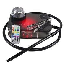 Acrylic Hookah with LED Light Shisha Box Complete Kit Portable Shisha Nargile Smoking Water Pipe wit