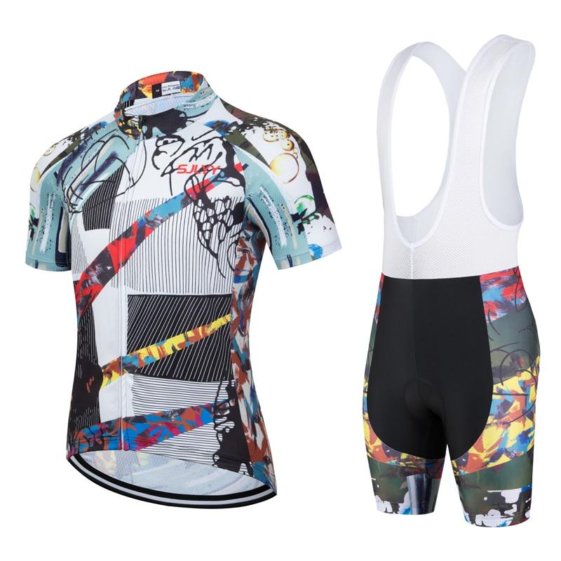 Maillot de Ciclismo profesional para Hombre de ropa negra pantalones cortos con...