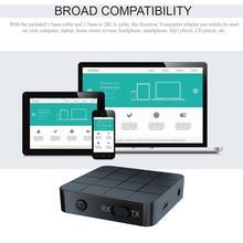 Wireless 5.0 Audio Transmitter Receiver 2-In-1 Adapter Tv Computer Speaker Car Transmitter Receiver