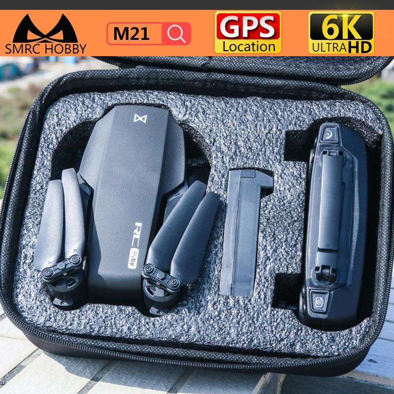 SMRC M21 drone 6k video camera 5g wifi camera drone 4k gps professional rc kit ، لعبة بدون طيار للأولاد ، rc ، طائرة ufo ، هدية