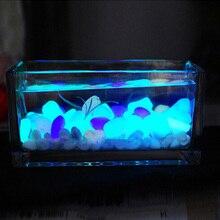 10PCS Aquarium Ornaments Stones Glow In The Dark Luminous Pebbles Stones For Garden Ornament Fish Tank Decoration