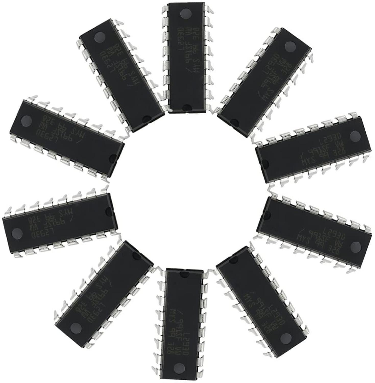 10 шт. L293D DIP 16 Pin IC шаговые двигатели контроллеры
