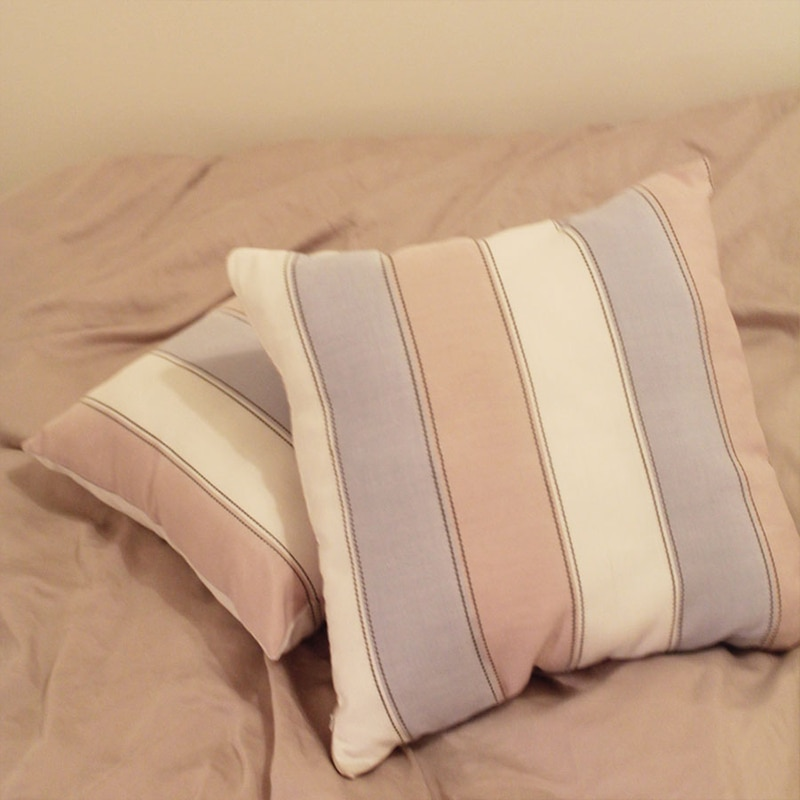 القطن الكتان شريط وسادة أريكة غطاء كيس وسادة الكورية نمط الوردي الأرجواني السرير وسادة ديكور حفلات ins