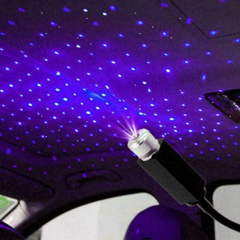 1 Uds. Lámpara de proyección luces de techo para coche romántico USB Luz De noche atmósfera lámpara hogar Luz de decoración de techo Toyss