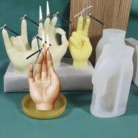 3D форма для жеста, силиконовая форма для свечей, творческий процесс изготовления свечей, Прочный манекен, ручная модель, подставка для демон...