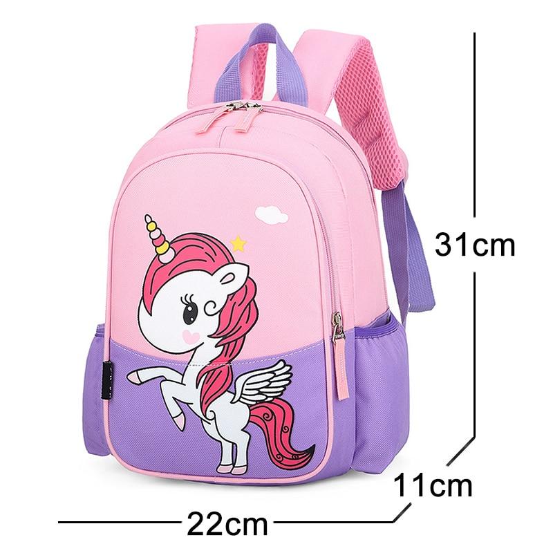 New Girls Backpack Cartoon Unicorn Children Bags for Teenage Kids School Anime Backpack Waterproof Nylon Cute Girls School Bags