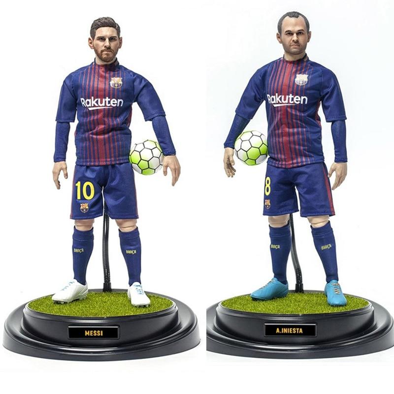 Figura de acción coleccionable Barcelona edición Deluxe Messi 16/17 temporada Iniesta modelo muñeca figura mostrar regalo