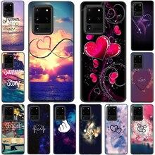 Étui en Silicone rose paillettes coeur damour pour Samsung S10 Note 10 Lite S20 Plus Ultra A01 A11 A21 A41 A51 A71 A81 A91
