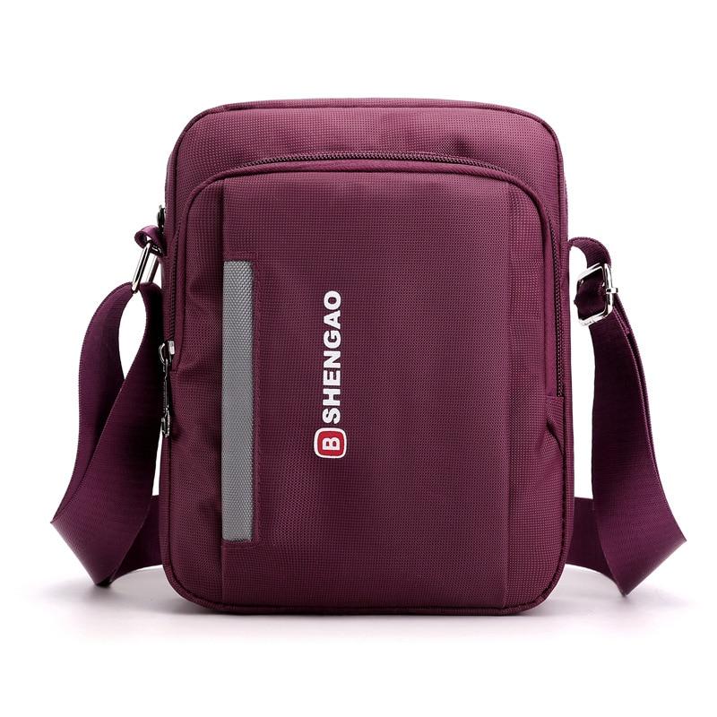 Casual nylon waterproof mens bag fashion wild outdoor mens shoulder bag vertical crossbody bag ladies purse over the shoulder