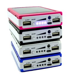 1 conjunto 5x18650 powerbank capa power bank 18650 caso banco de energia solar caixa diy kit duplo usb telefone carregador lanterna