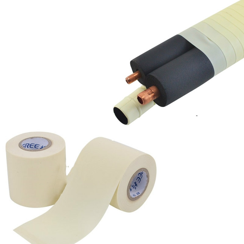 6cmx11M Waterproof pvc wrapping tape Air Conditioner Insulation copper tube banding Tie Strap Air Conditioning pipe repair part radiation insulation and moisture proof heat exchanger and waterproof air conditioner tube heat pipe insulation tape