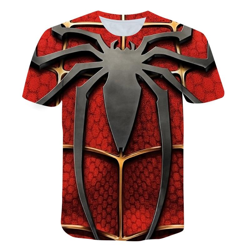 Summer Spidermans T Shirt Boys sweatshirts Fashion Cool 3D Printed Kids Shirts Boy Short Sleeve Girls Baby Clothes Tops