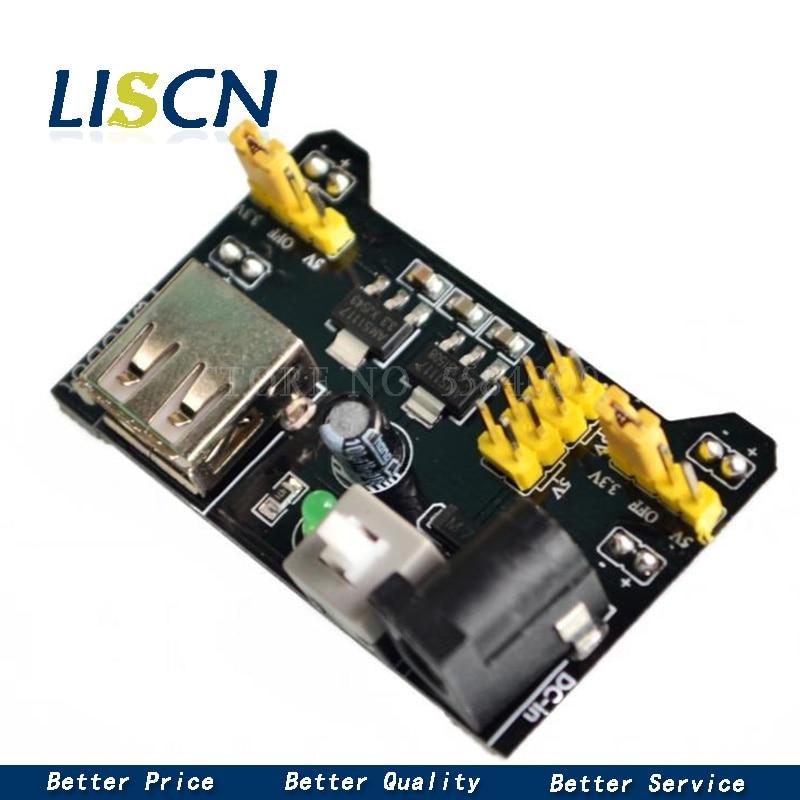 Regulador de tensão sem solda da placa de pão do módulo 3.3 v 5 v da fonte de alimentação da tábua de pão mb102