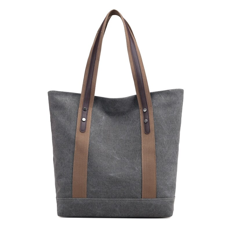 New Fashion Women Canvas Handbags Solid Large Capacity Travel Handbag Ladies Casual Crossbody Bags Shoulder Tote Messenger Bag
