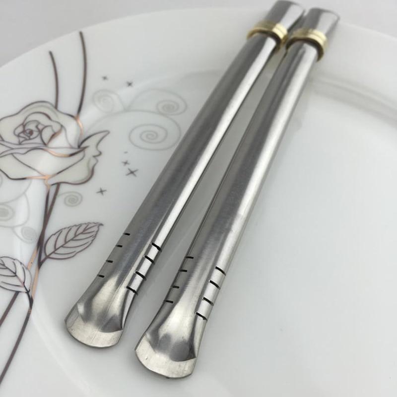 Pajita para beber de acero inoxidable 304 Yerba Mate cucharas de filtro reutilizable Metal herramientas de té colador para café jugo cuchara para té