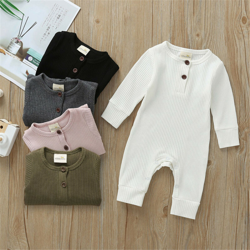 baby girl clothes autumn lattice knitted baby clothes newborn baby girl romper cotton baby cardigan sweater romper jumpsuit Spring Autumn Baby Clothes Newborn Infant Baby Boy Girl Cotton Solid Romper Knitted Ribbed Jumpsuit Warm Outfit