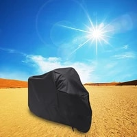 motorcycle motorbike atv scooter waterproof sun block protective cover rain cover protector size xxl black