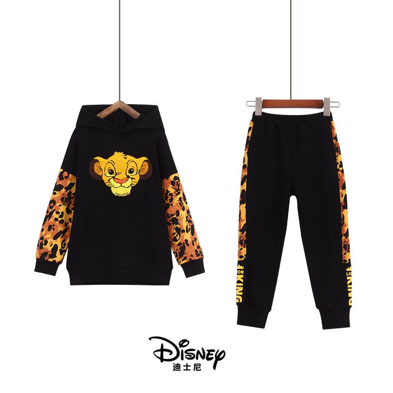 Original Disney Children's Clothing Lion King Children's Autumn Sweater Set Baby Girl Clothes LKTZ193041K