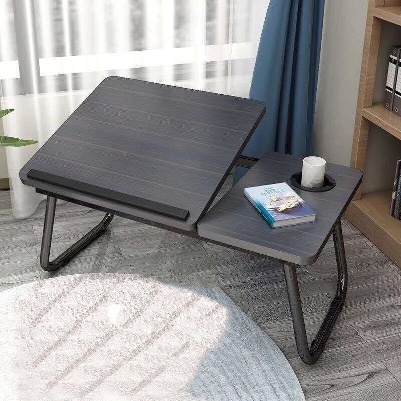 طاولة كمبيوتر محمول مكتب كمبيوتر بسيط مع مروحة أريكة تتحول لسرير قابل للطي قابل للتعديل مكتب للحاسوب شخصي على السرير