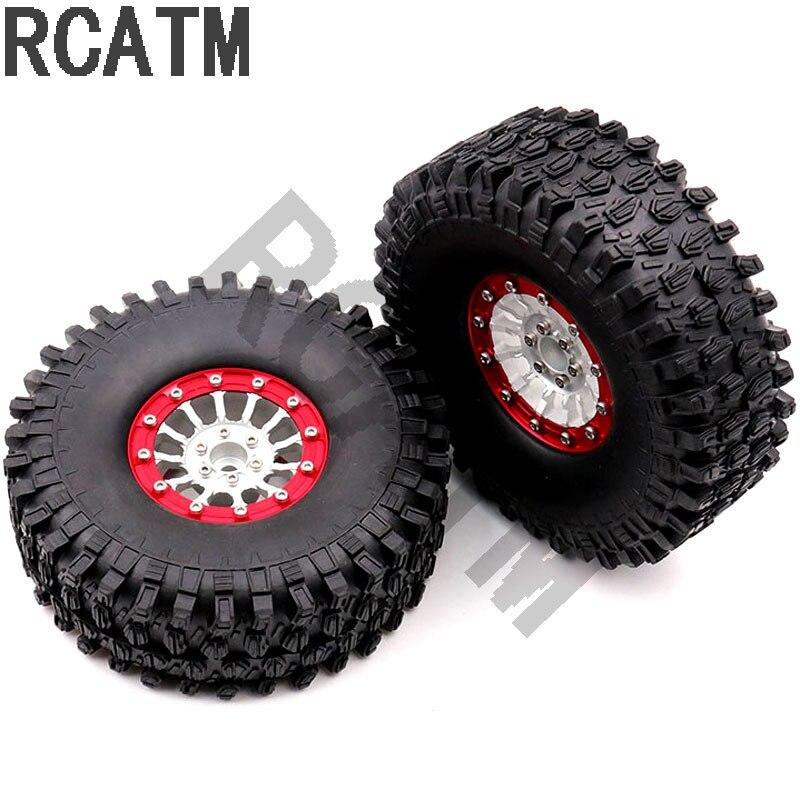 TRX4 1:10 Simulates Rock Crawler 1.9 Inch Metal Wheel Hub car Tire 90046 RC4WD SCX10