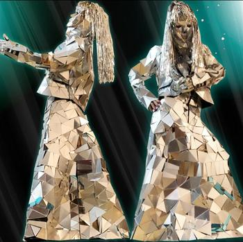 Mirror Carnival dance dress Robot dance