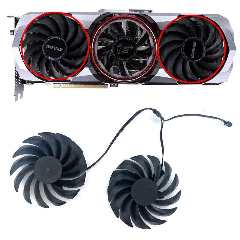 [해외] 냉각 팬 90mm 다채로운 iGame GeForce RTX 3090 고급 RTX 3060 Ti 고급 RTX 3080 Ti RTX 3090 kudan RTX 3070 Ti 팬용