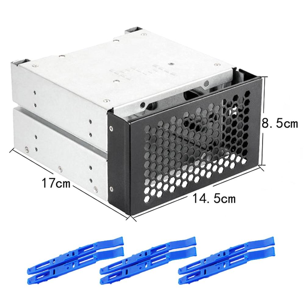جديد وصول القرص الصلب قفص الرف 3.5 إلى 5.0 بوصة ثلاثة قرص قرص صلب صندوق تخزين الكمبيوتر التوسع HDD محول رف