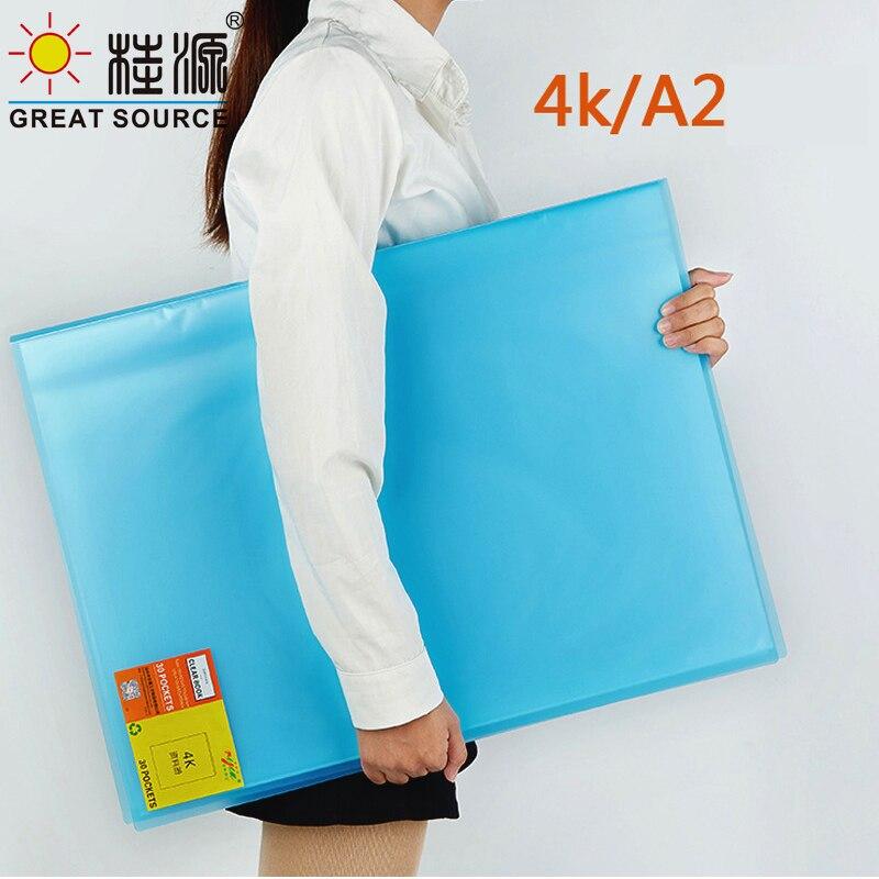 4K Дисплей книжной графике, презентация книги 30 прозрачные карманы необычные конфеты Color573 * 425 мм (22,56