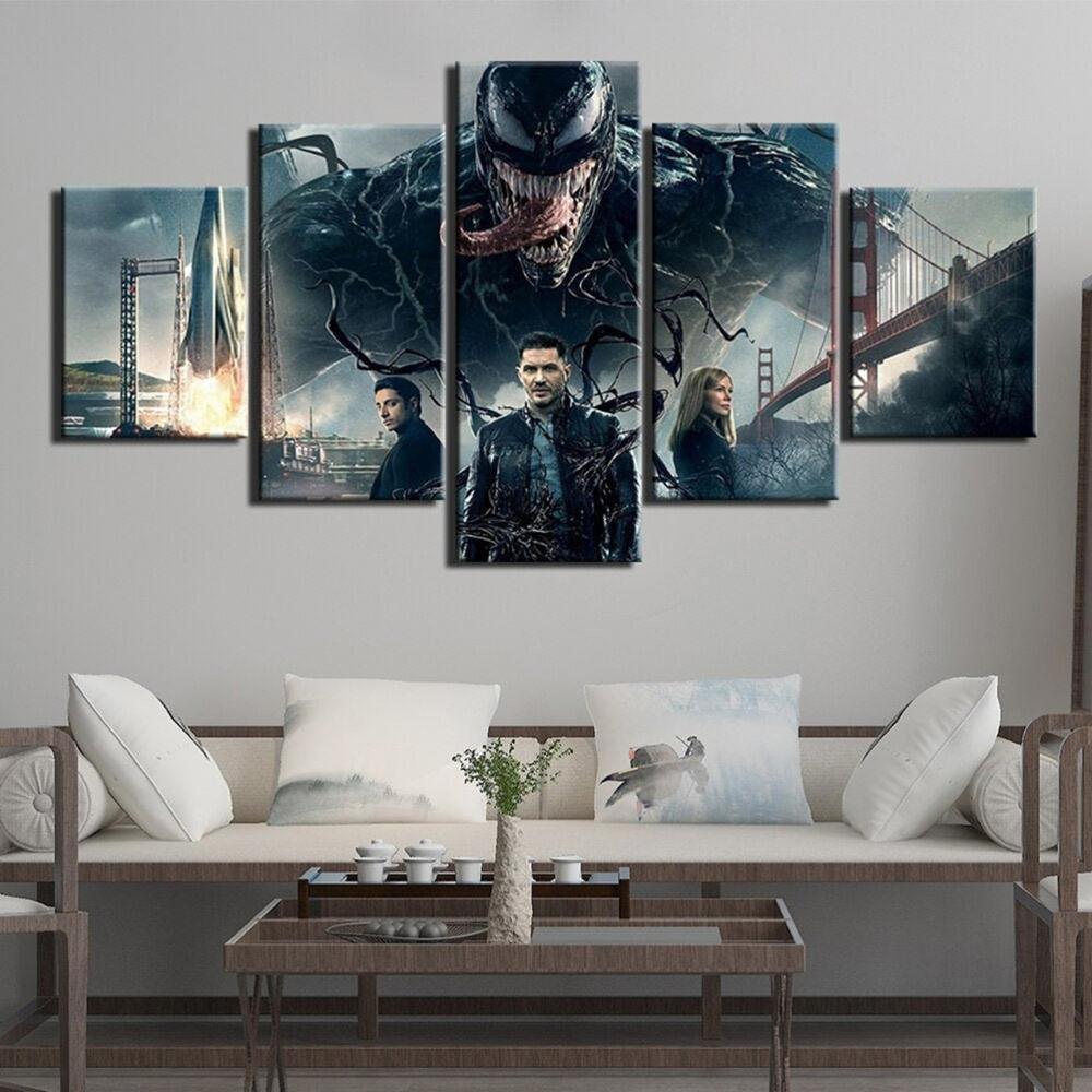 5 pièce mur Art toile américain Comics héros photos venin affiches moderne maison salon & chambre décoration peintures