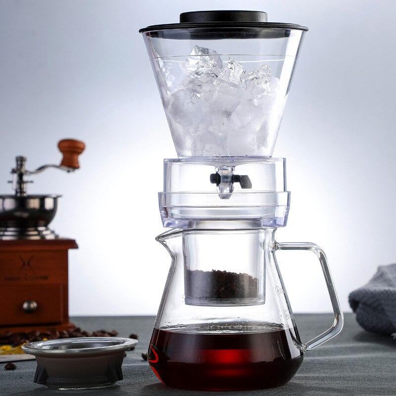 الجليد بالتنقيط إبريق قهوة صانع القهوة الزجاج منظم المنقط تصفية الباردة المشروب الأواني المثلجات بروكولتورز قهوة اسبريسو