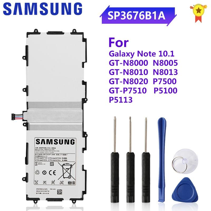 Оригинальный аккумулятор SAMSUNG SP3676B1A для Samsung Galaxy Tab 10,1 S2 N8000 N8010 N8020 N8013 P7510 P7500 P5100 P5110 P5113 7000 мАч