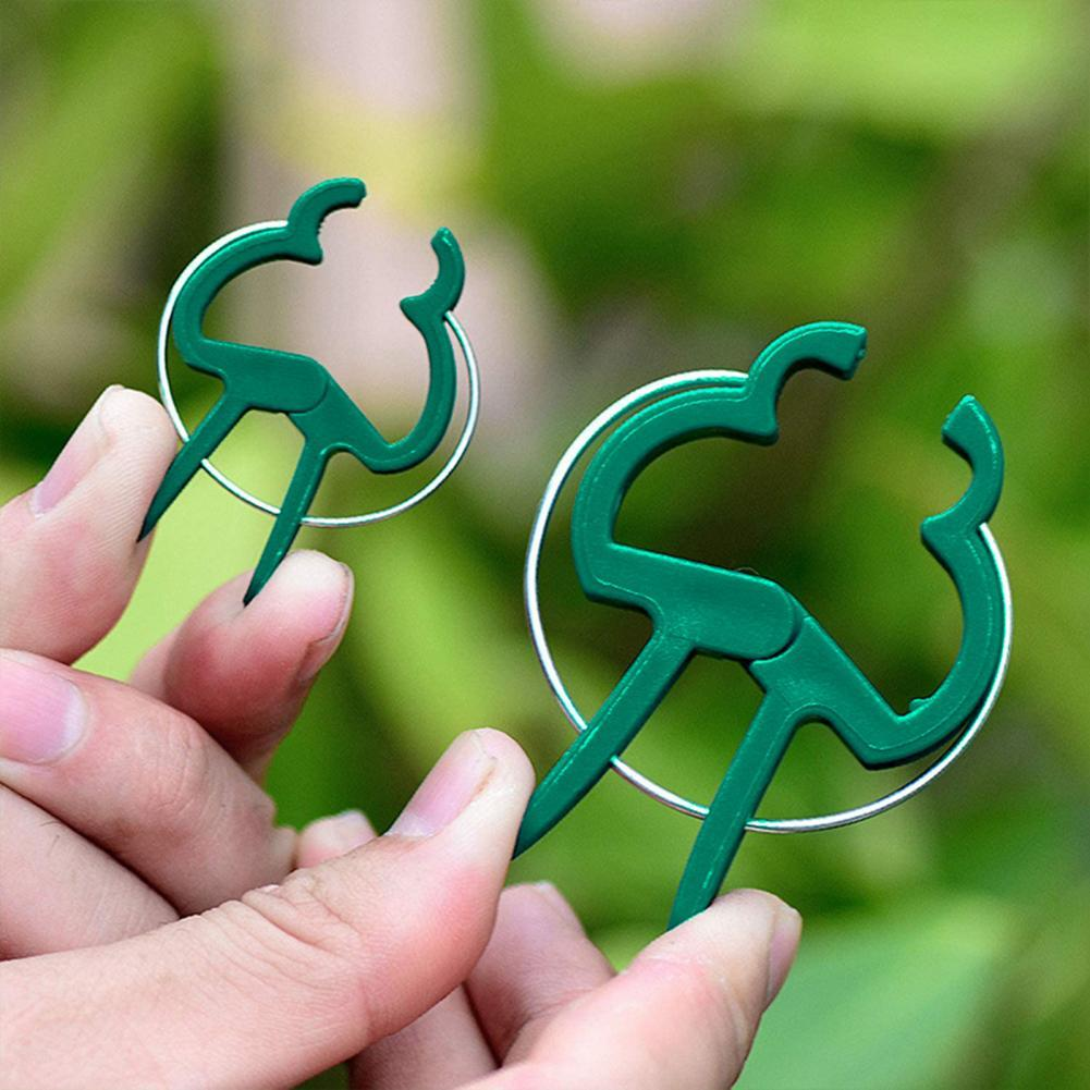 10Pcs Plastic Clips Reusable Portable Lightweight Grafting Vegetable Clamps Stand Plastic Plant Clips for Farm Home Garden