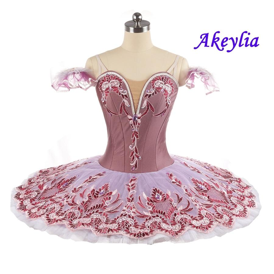 NEWS! Grape Ballet Tutu Professional For Girl competition dark purple Women Pancake tutu classical Dress customize Adult