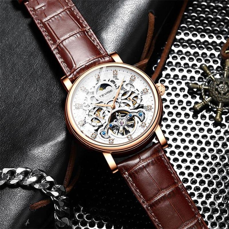 New Fashion Automatic mechanical Mens Watches Top Brand Luxury Military Tourbillon Watch Waterproof