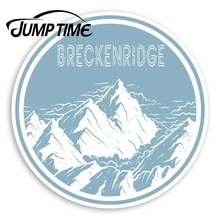 Jump Time Breckenridge Mountain Vinyl Stickers - America Sticker LuggageDecal Car Window Bumper Car