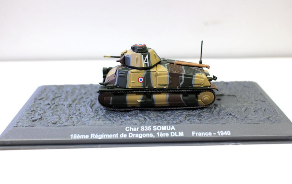 Alyak-tanque fundido a presión para colección, escala 1:72, Char S35 SOMUA 18...