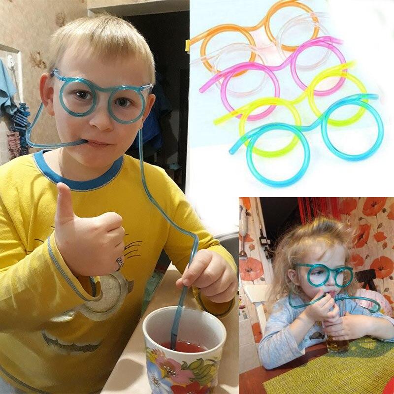 1 шт. инструмент приколы и розыгрыши забавные мягкие пластиковые соломинки Забавные очки питьевые игрушки для вечерние ринки детские игруш...