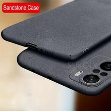 Slim หินทรายกรณีสำหรับ Xiaomi Redmi หมายเหตุ10 Pro Max 10S 9S 9 Pro Mi 11 10T Lite Poco X3 NFC F3กันกระแทกปกแข็ง