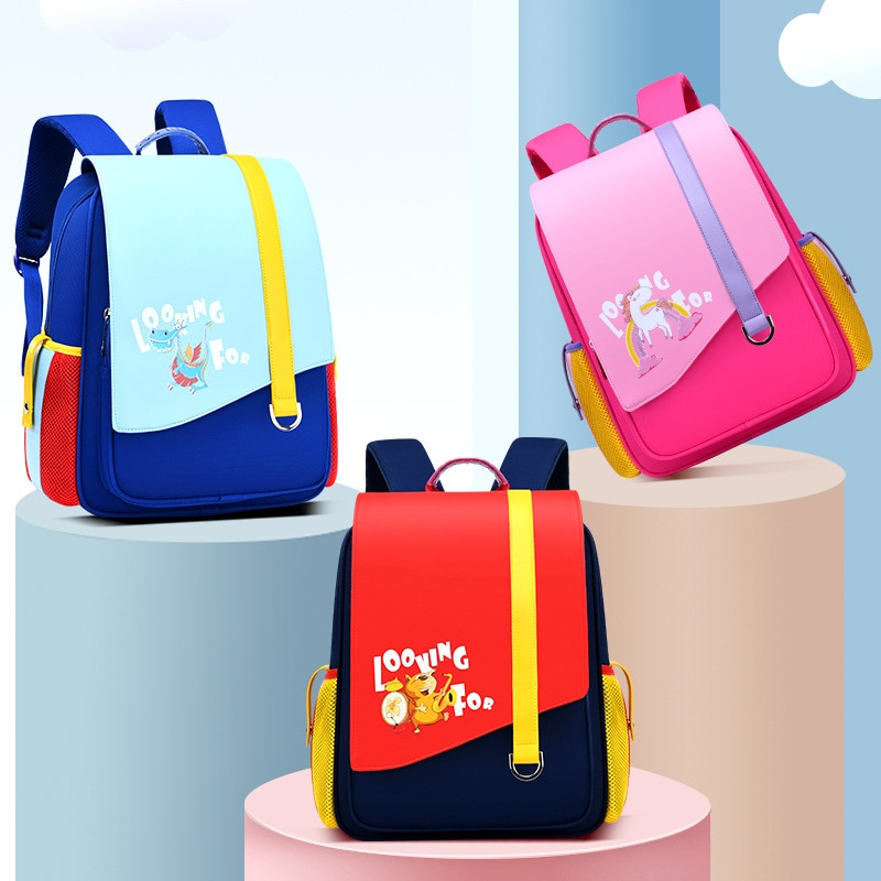 Children's Schoolbag stutent 6-10 Years Old Kids Baby's School Backpack Boys And Girls Mochila pu Book Bag Fashion School Bags