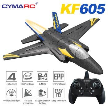 KF605 Glider Airplane RC Fixed Wing Drone 2.4G Remote Control EPP Foam Glider Toys for Adults Kids Boys