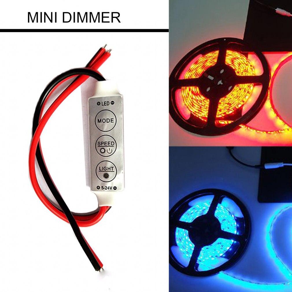Dimmer Mini 3 Keys 12A Brand New LED Dimmer Remote Controller For Single Color 5050/3528 Led Strips Brightness Dimmer