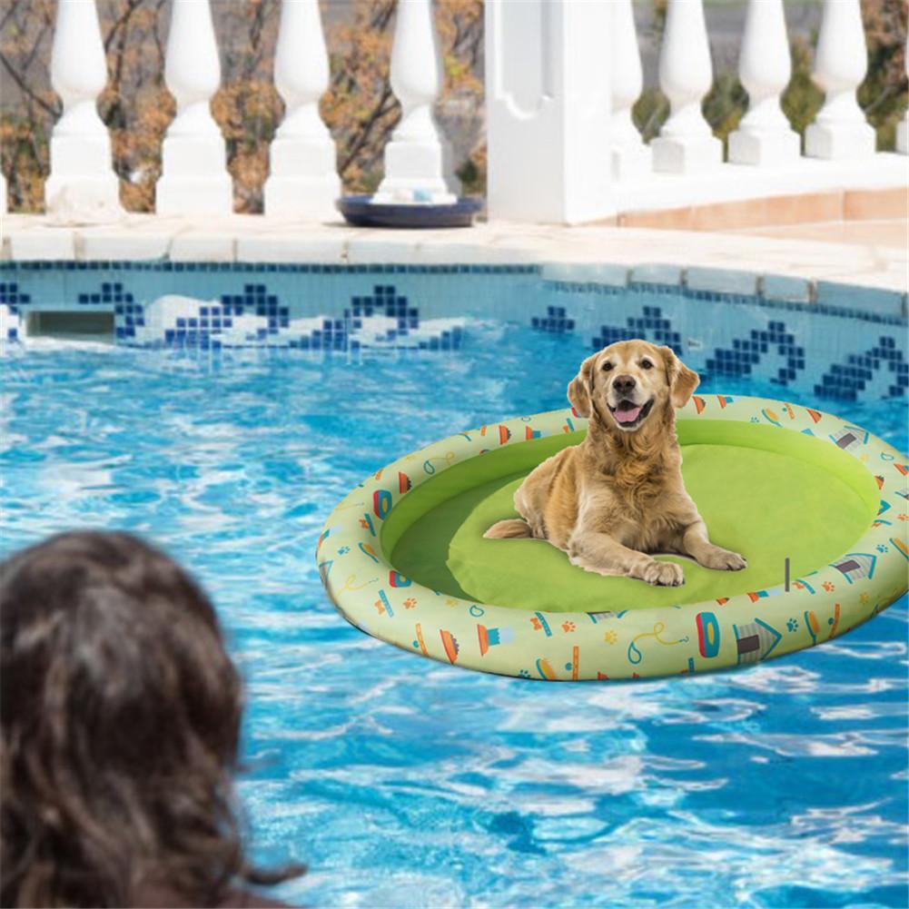 Colchón inflable grande de 140x96cm, diversión con agua para perros y gatos, colchoneta duradera 210D Oxford con impresión