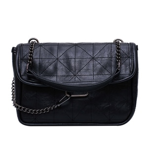 New Arrival Women's Designer Plaid Chain Shoulder Bag Retro Messenger Bag Fashion Trend Handbag And Purse Cross Body Luxury 2020