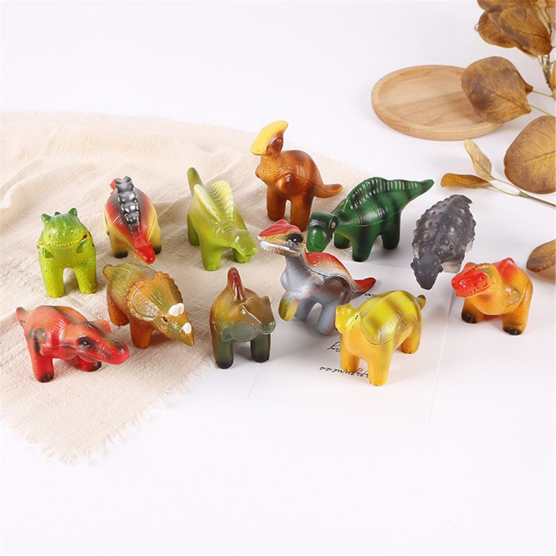 6 Pieces Dinosaur Squishy Toys Set for Slow Rising Stress Relief Super Soft Squeeze Dinosaur Toys enlarge