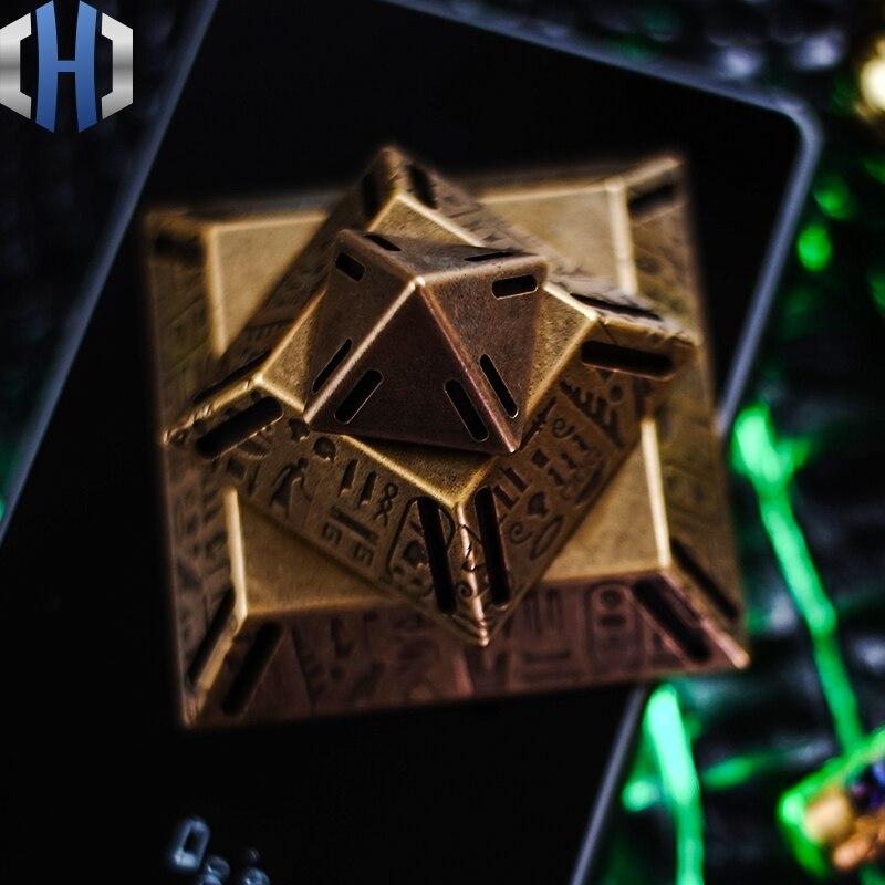 Original EDC Pyramid Gyro ZOSER Pyramid Brass Desktop Decoration Car Gyro enlarge