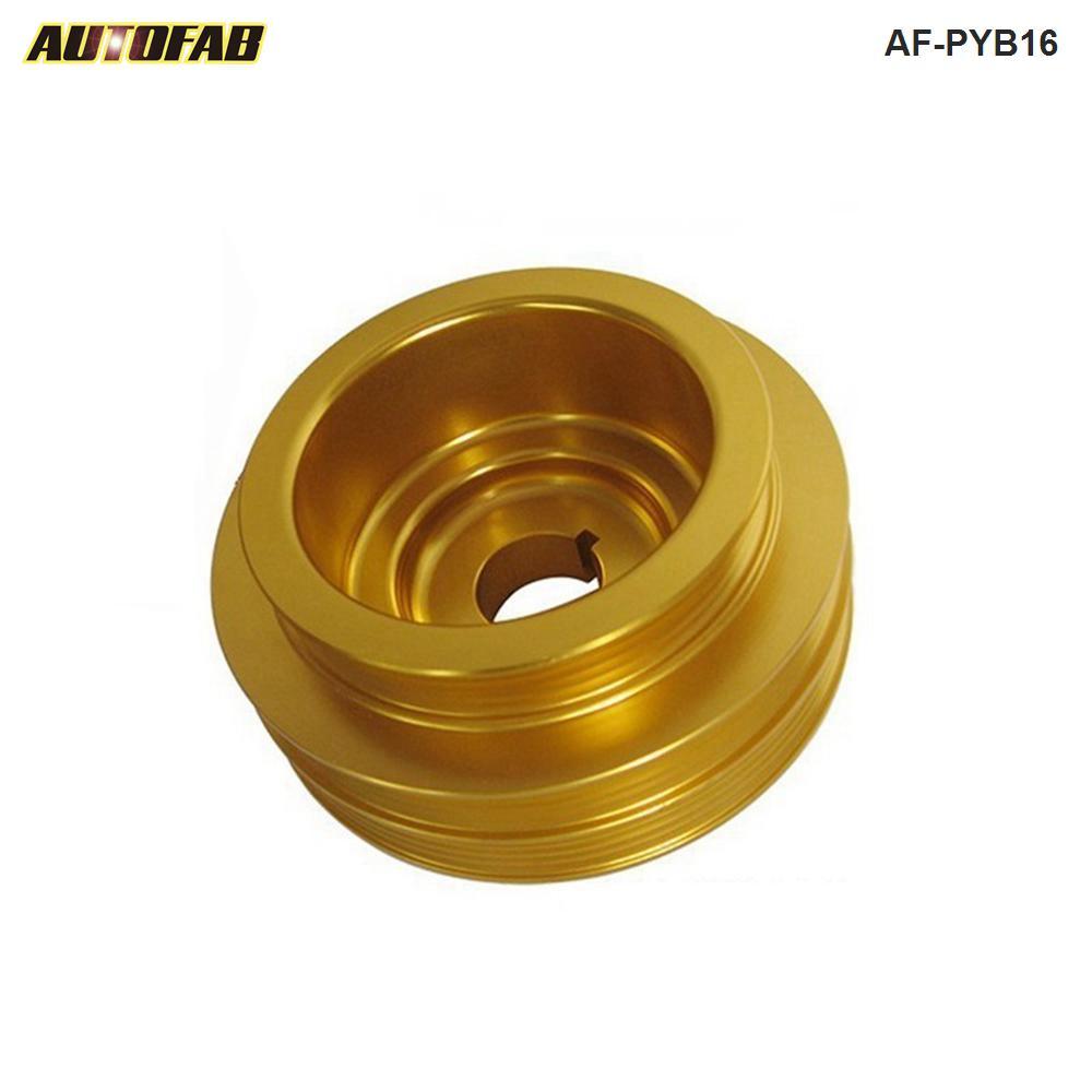Polia de alumínio do eixo de manivela underdrive para honda 99-01 94-01 b18 b16 civic jdm AF-PYB16