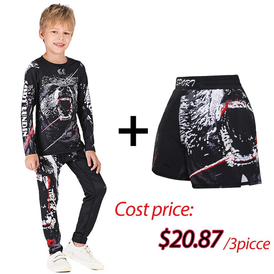 ladies bjj kimonos sunrise sakura brilian jiu jitsu gi girl s 100% cotton bjj gi for women Kids MMA Rashguard BJJ GI T-shirt +Pants Jiu Jusit Tight Trousers Muay Thai Shorts 3Pcs/Set Children MMA Compression Sportsuits