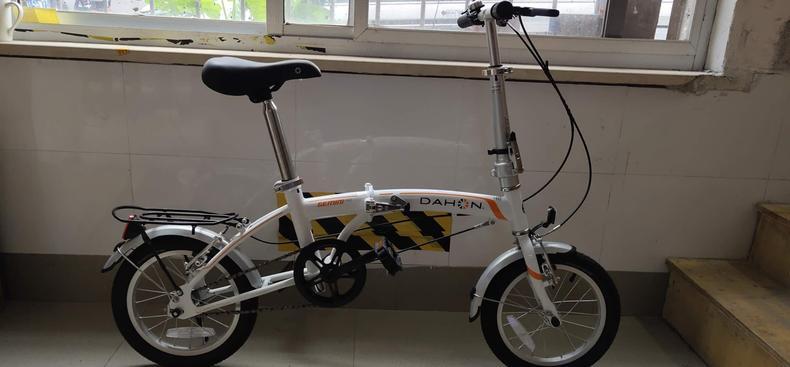 Bicicleta dobrável dahon bicicleta glo bat410 gemini 14 Polegada alta aço carbono quadro cinto fender prateleira traseira crianças mini-bicicleta bom